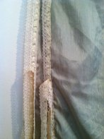 Detail of the lace and ties
