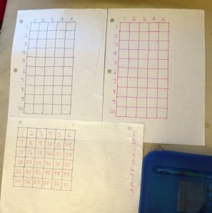 """Button"" game boards on the top, and the Multiplication Tic-Tac-Toe Board is on the bottom!"